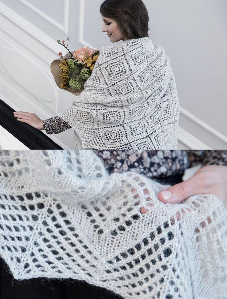Free Knitting Pattern for a Diamond Lace Shawl | Shawl ...