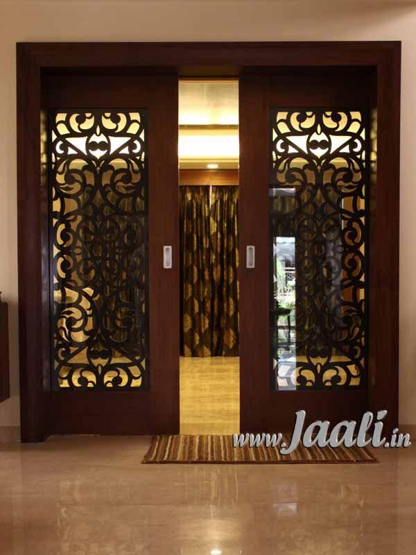 083 Double Veneer Jaali For Sliding Door Sandwiched
