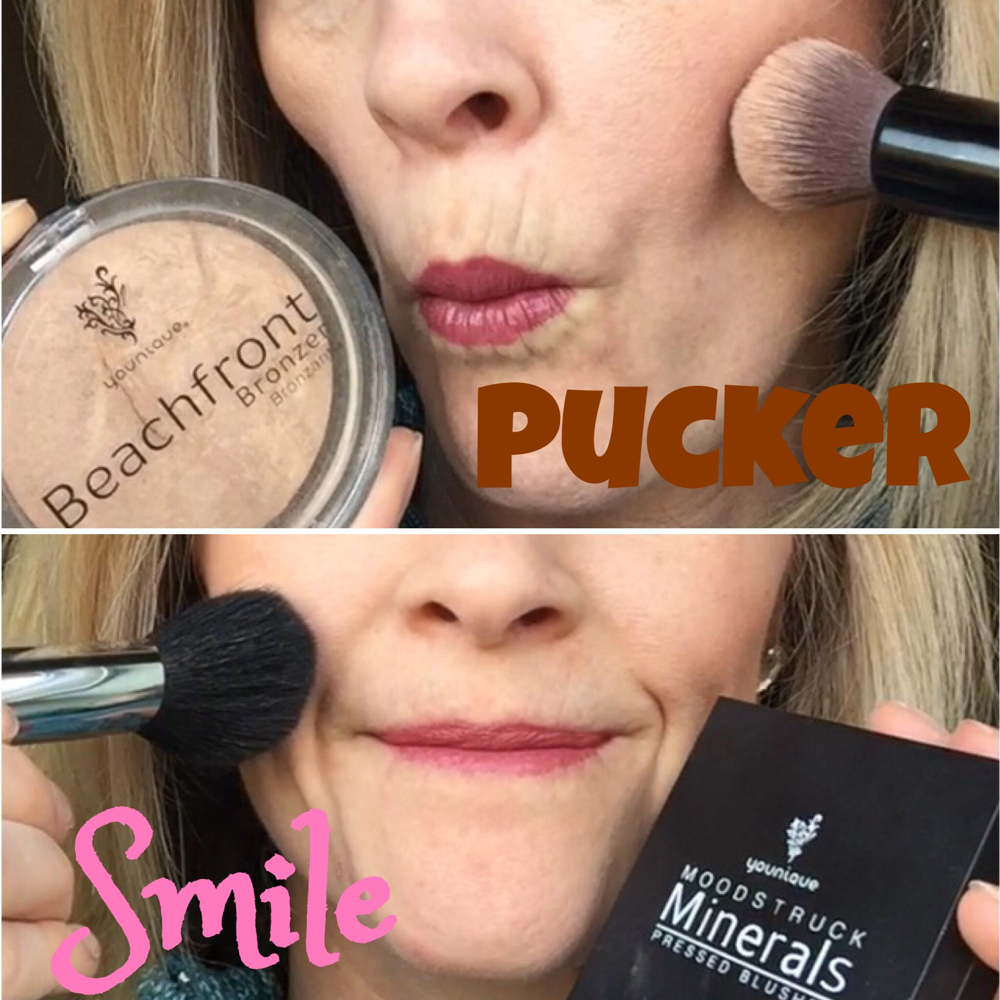 Pucker When Applying Your Bronzer And Smile For Your Blush