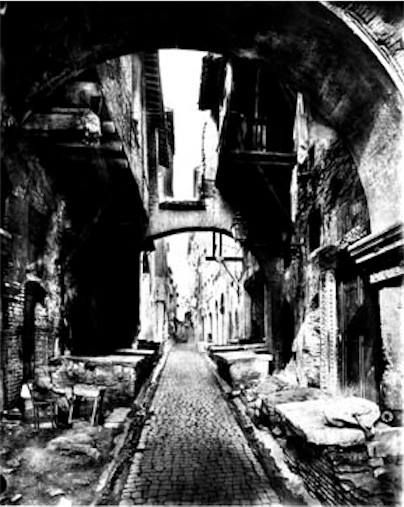 Rome Jewish Ghetto 1850. After The Defeat Of The Vatican