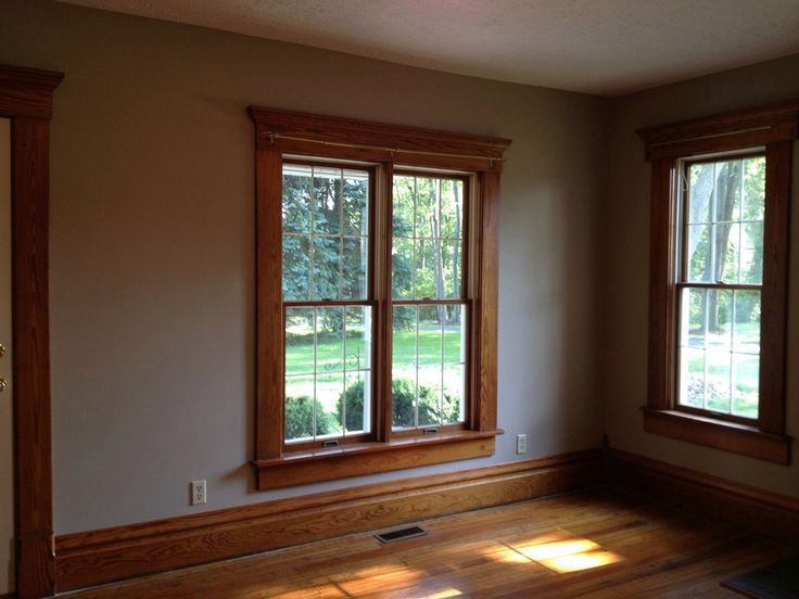The Stained Wood Trim Stays 16 Wall Colors To Make It Sing Dark Wood Trim Stained Wood Trim Wood Trim