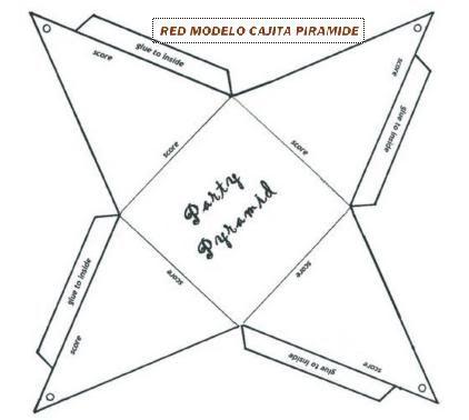 Piramide Gift Box Template Paper Box Template Pyramids