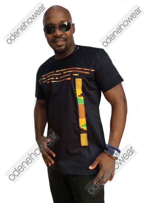 b99253fec25 Odeneho Wear Men s Black Polished Cotton Top Only by Odenehowear African  Men Fashion