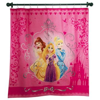 Disney Princess Fabric Shower Curtain Little Girl Bathroom
