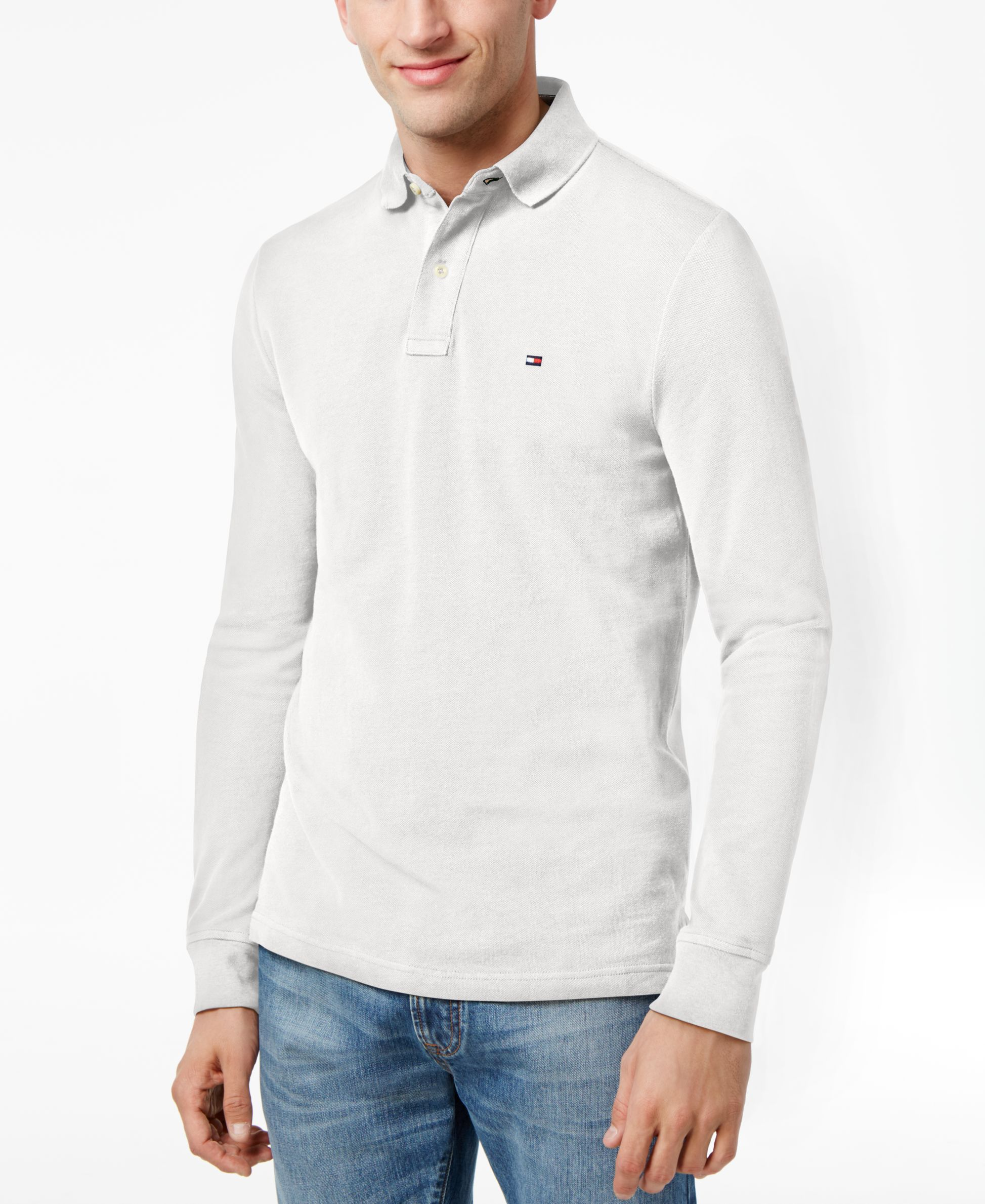 85bd6e31 Tommy Hilfiger Men's Long-Sleeve Classic-Fit Polo   Products   Tommy ...