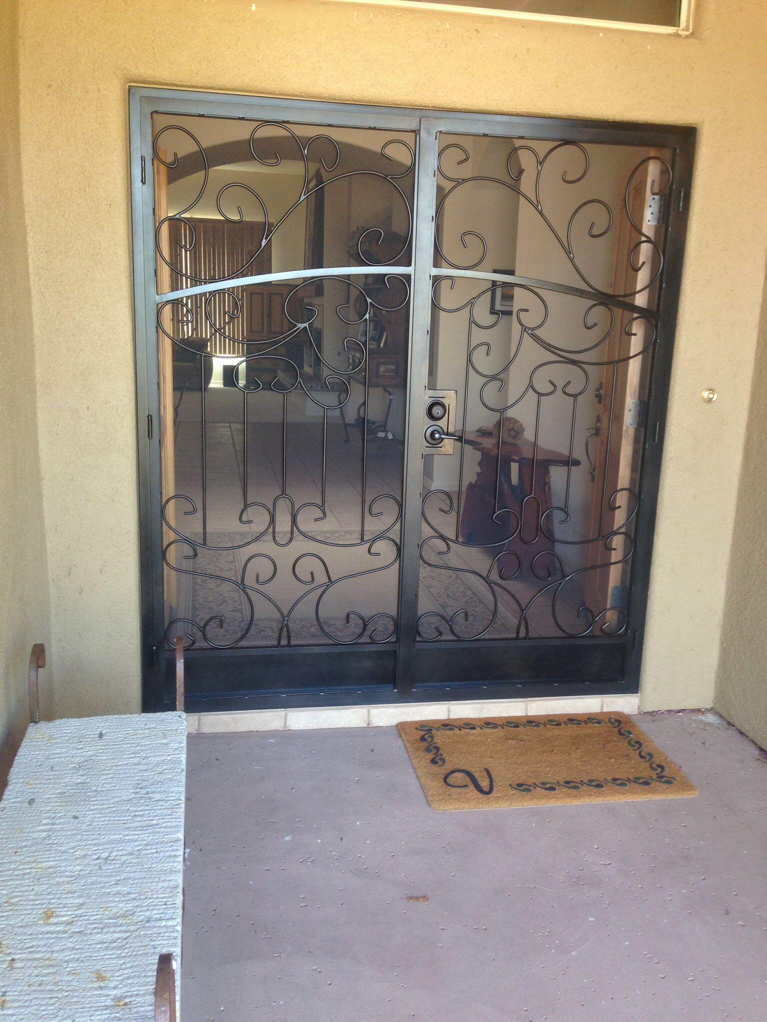 Custom Designed Double Security Screen Door By Big Red Iron Jr