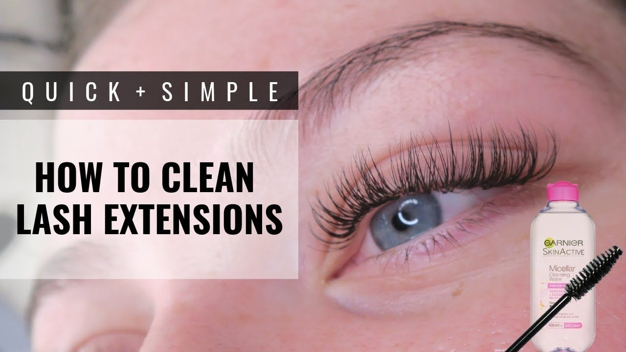 How to clean lash extensions youtube in 2020 how to