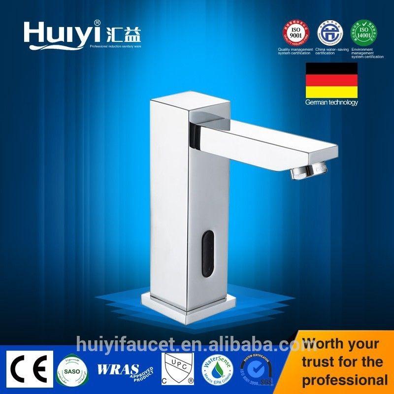 Square Brass automatic shut off Faucet Motion Sensor