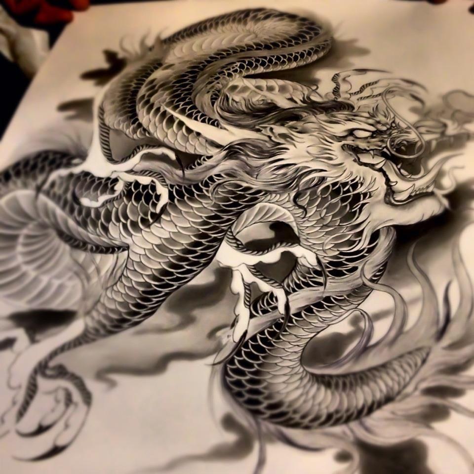 Dragon Thigh Tattoo