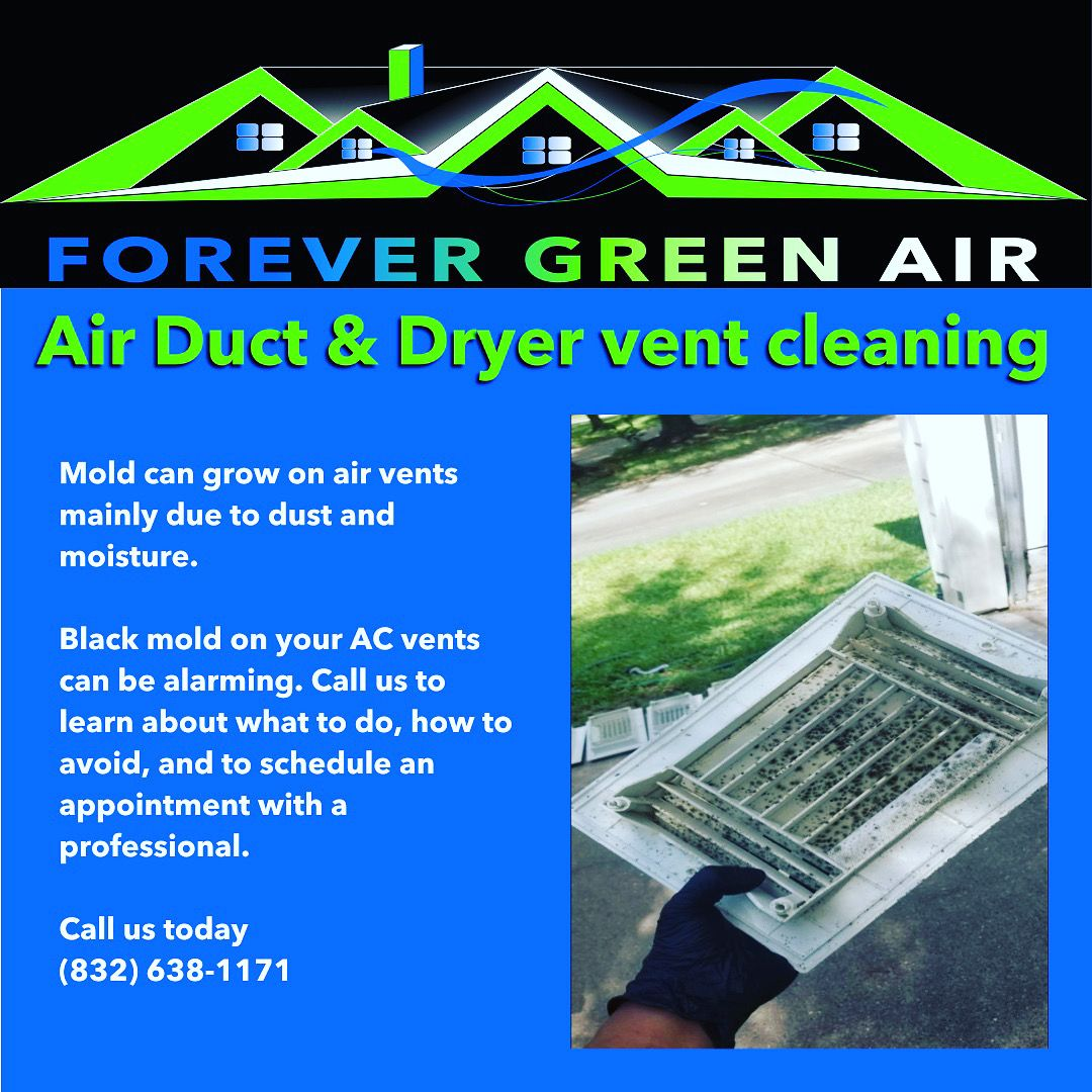 Air duct cover mold clean and sanitized 🧽 Call us today in