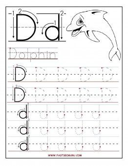 free printable letter d tracing worksheets for preschool free learning to write worksheets for preschoolers - Printable Printing Worksheets