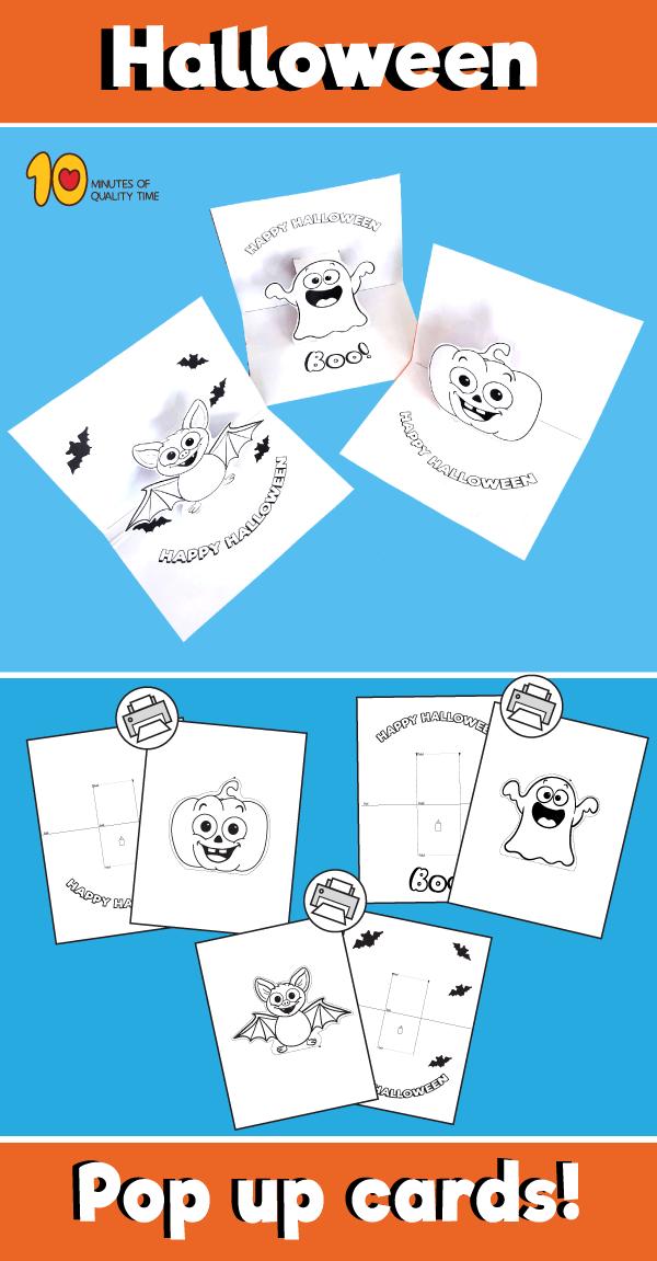 Halloween Pop Up Card Templates Happy Halloween Cards Halloween Pop Up Cards Halloween Worksheets