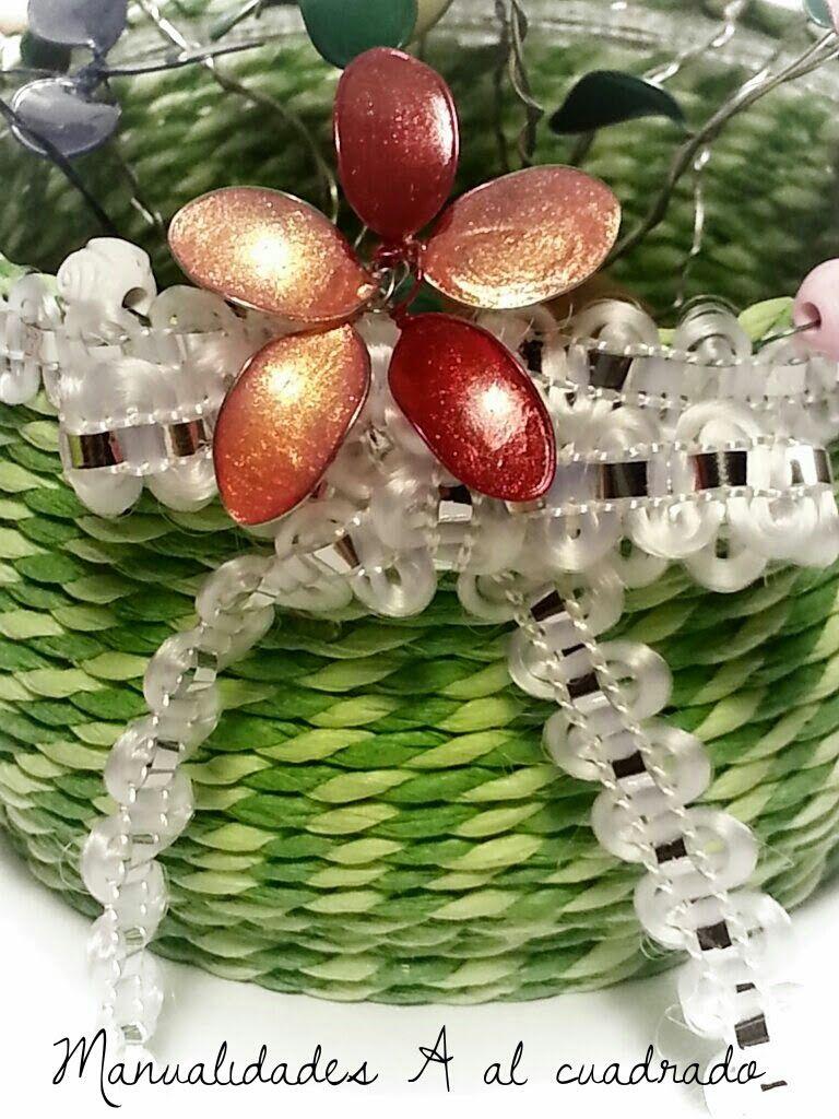 Tutorial para hacer flores de alambre y esmalte de uñas. | crafts ...