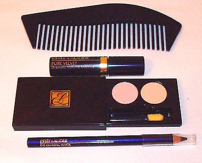 ESTEE LAUDER EYESHADOW DUO/DRAMATIC VOLUME MASCARA/EYE DEFINING PENCIL/COMB SET