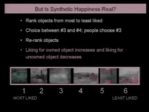 Why are we happy? Why aren't we happy?    Dan Gilbert speaking at TED expounds on happiness, relating your feelings to research. Enjoy this lighthearted talk reinforcing our prefrontal cortex's capacity to manufacture happiness. Interesting how bounded and unbounded ambitions and fears impact us differently. Quite surprising.