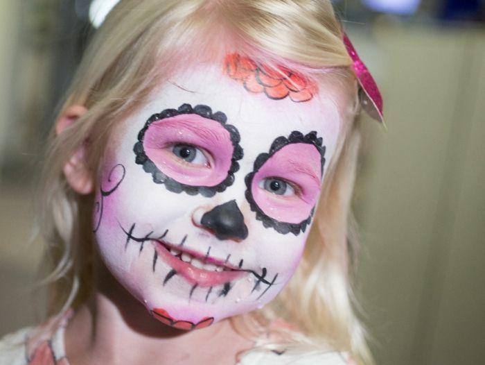 Quatang Gallery- 1001 Idees Pour Votre Maquillage De Halloween Squelette Maquillage Halloween Maquillage Squelette Maquillage Halloween Fille