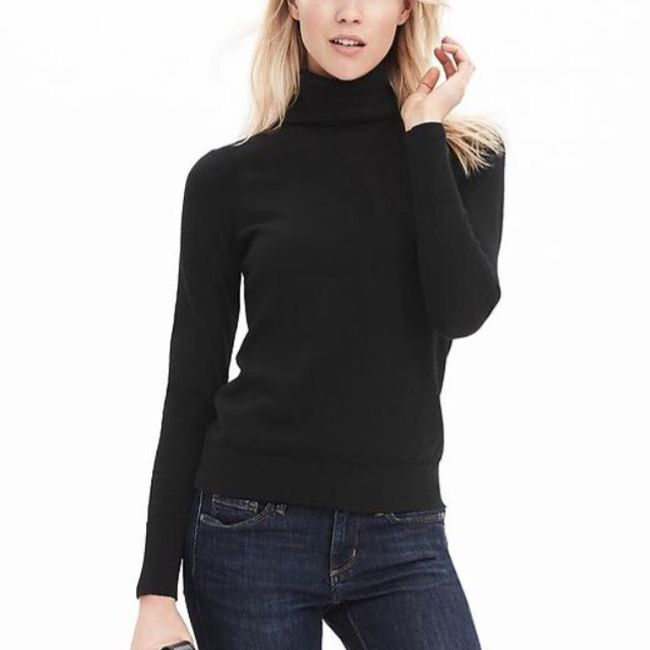 Banana Republic Pima Cotton Cashmere Turtleneck Sweater - 16% Off ...