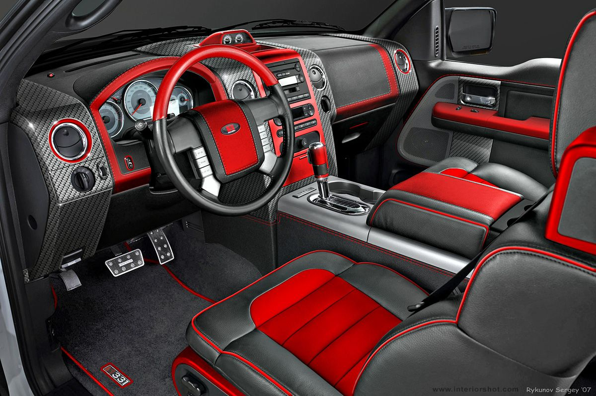Image Of Red And Black Truck Interior Google Search Auto Design Pinterest Black Truck