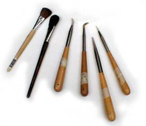 The Society of Gilders gold leafing tools