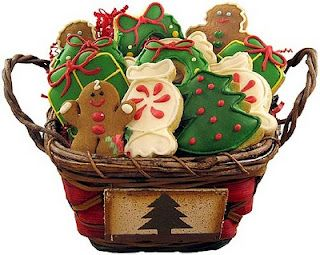 christmas cookie basket this would make a great gift - Christmas Cookie Baskets