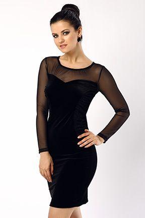 Siyah Yanlari Simli Kadife Elbise Tozlu Com Elbise Elbise Modelleri Elbiseler