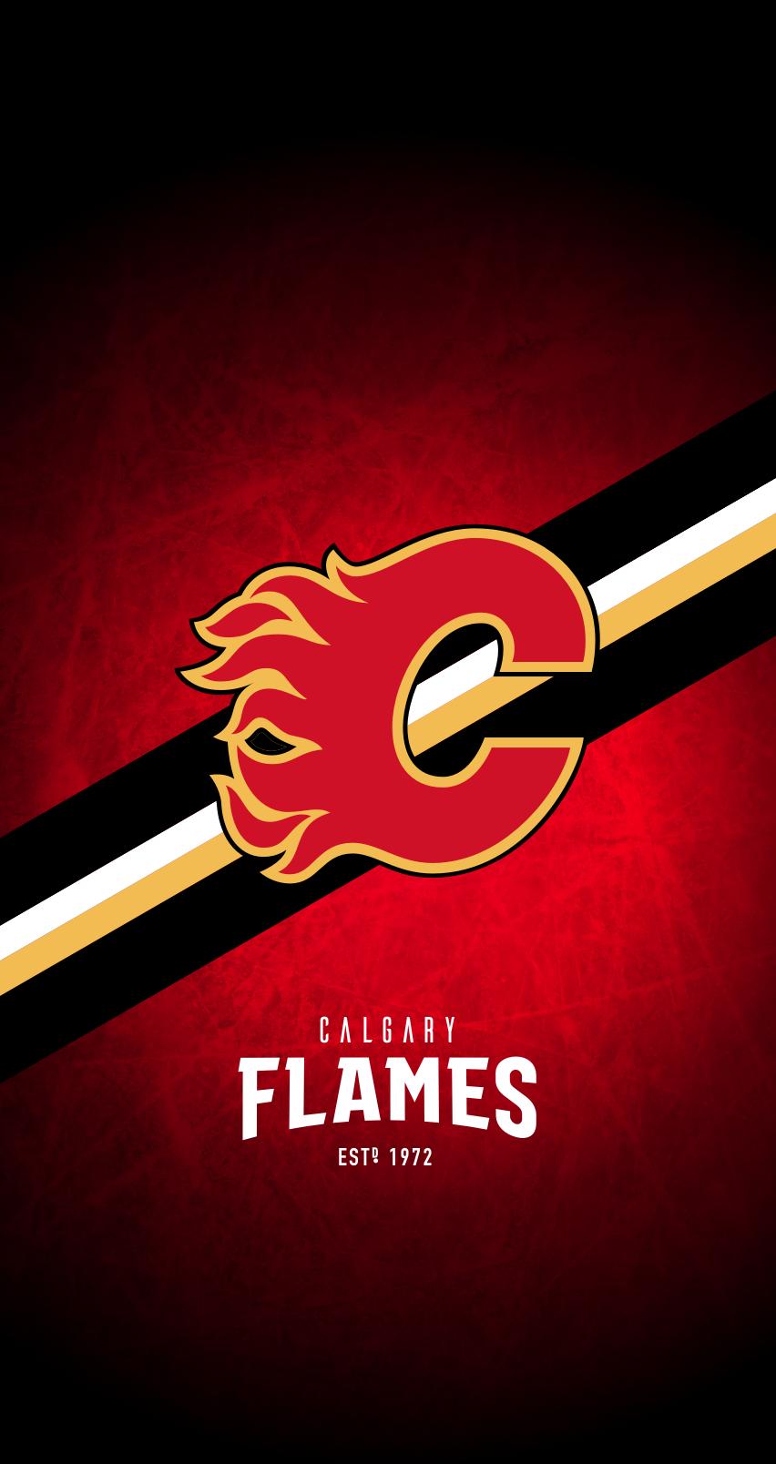 Calgary Flames Nhl Iphone 6 7 8 Lock Screen Wallpaper Nhl Wallpaper Calgary Flames Calgary Flames Hockey