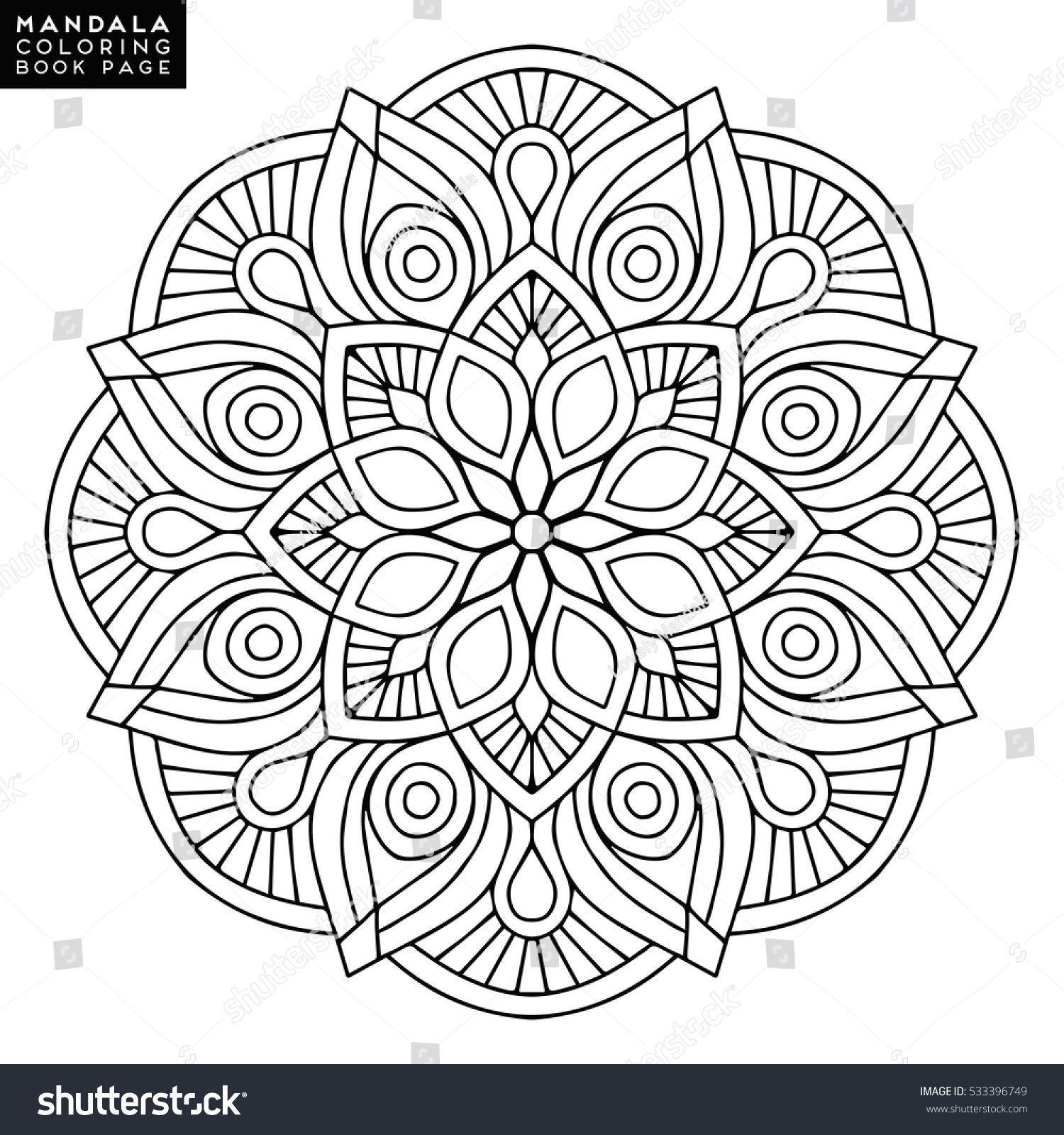 Flower Mandala Vintage Decorative Elements Oriental Pattern Vector Illustrati Decorat Mandala Coloring Pages Flower Mandala Mandala Coloring