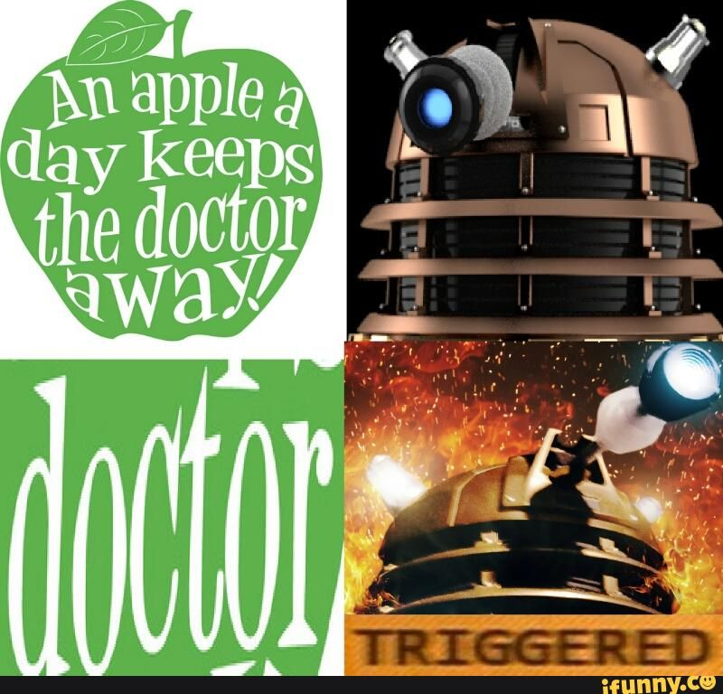 This is great XD #doctor #dalek #doctorwho #triggered #meme