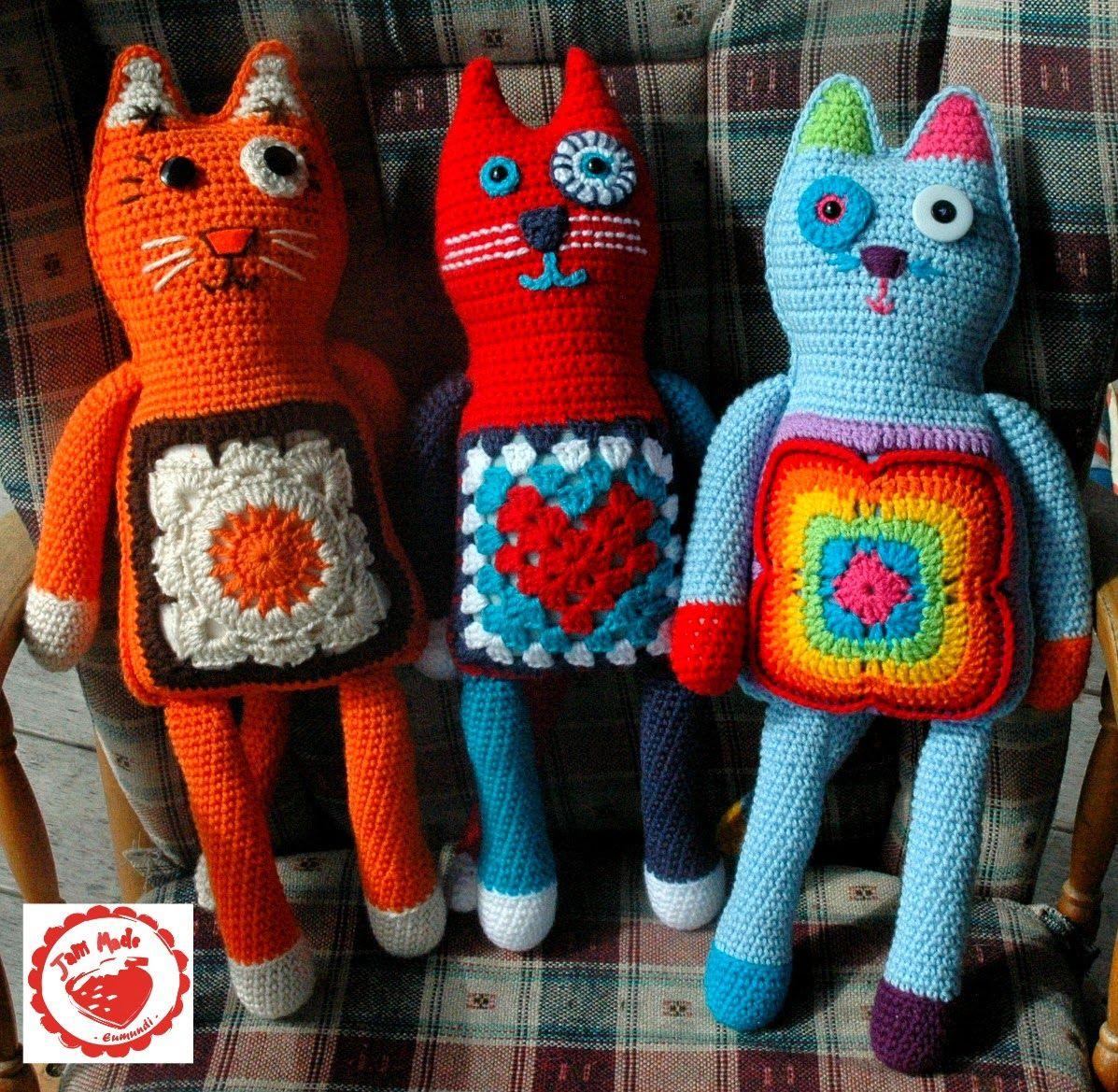 Granny Square Plush Cat Pattern Crochet projects