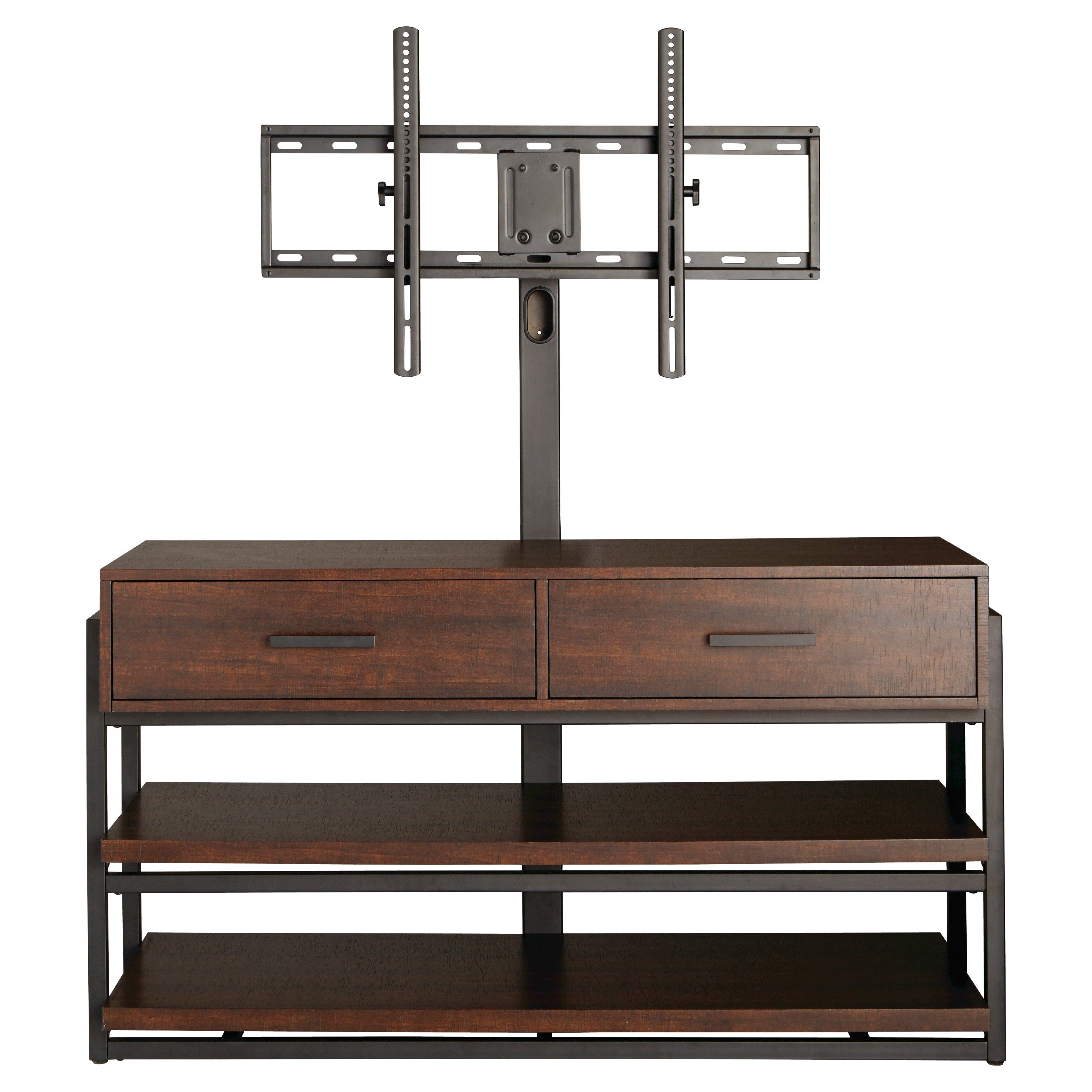 Threshold Mixed Material 3n1 Tv Stand Tv Stand Brown Swivel Tv Stand Tv Stand With Mount
