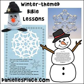 Winter-themed Sunday School Lessons from www daniellesplace