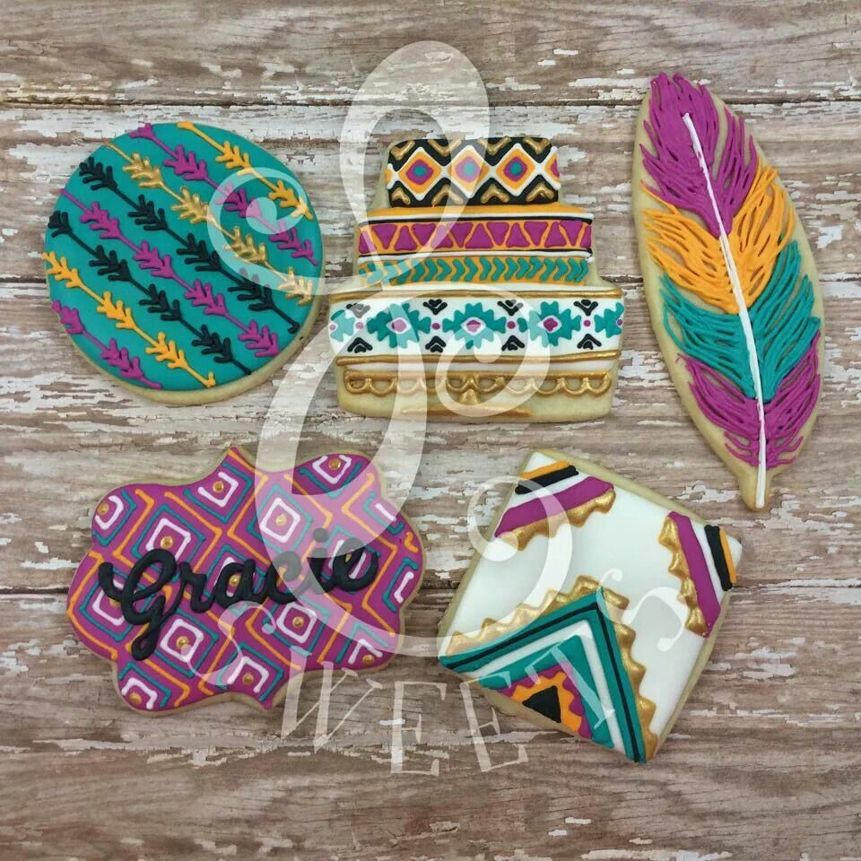 Lydia carter native american theme cake plaques and feather