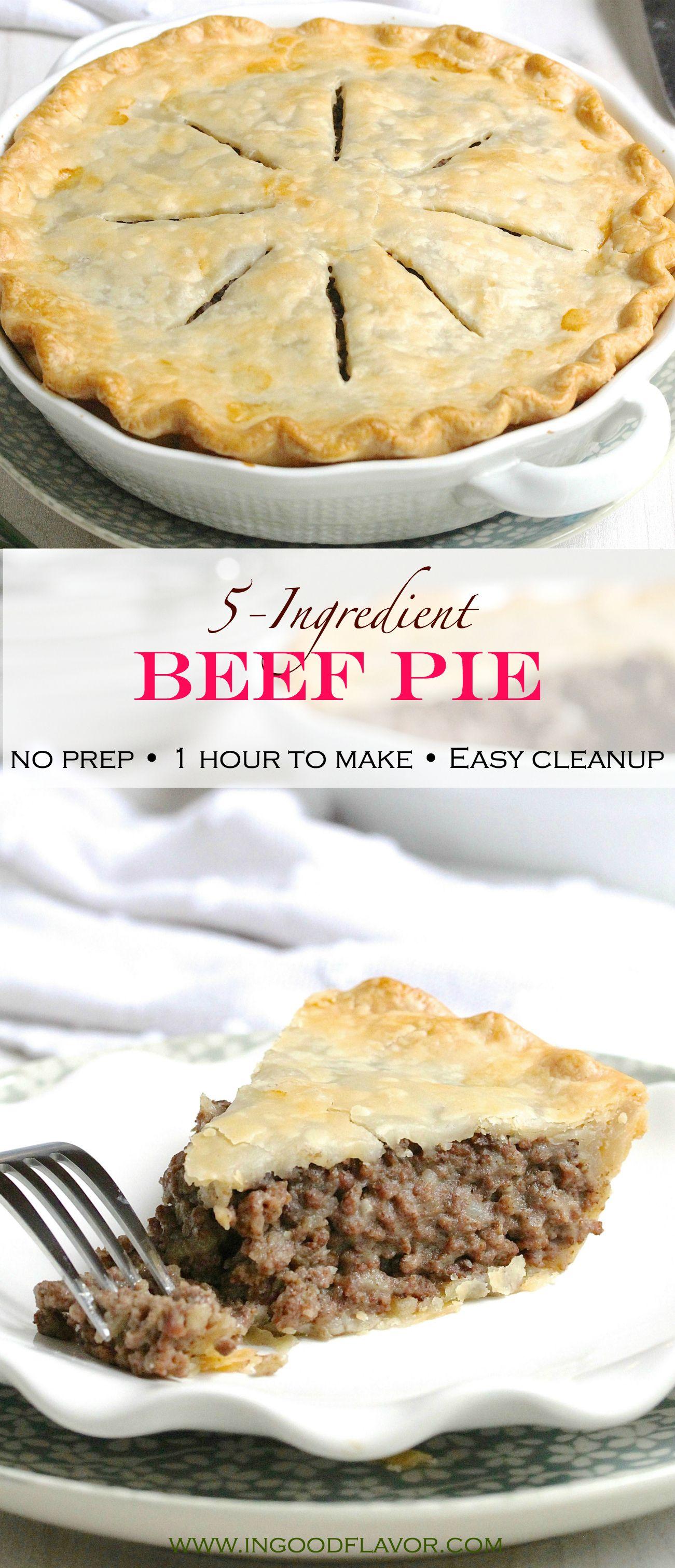 5-Ingredient Beef Pie #beefdishes