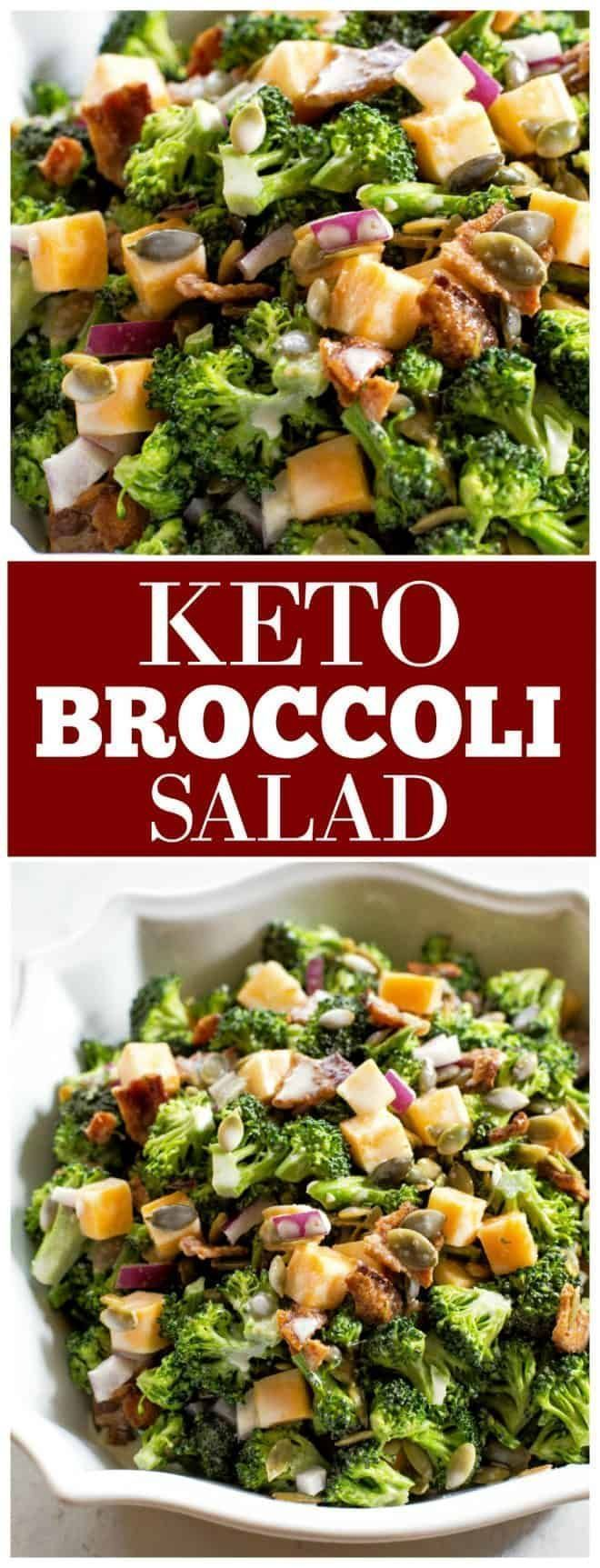 Broccoli Salad  who says you cant have your favorite potluck side dish when on the Keto dietKeto Broccoli Salad  who says you cant have your favorite potluck side dish wh...