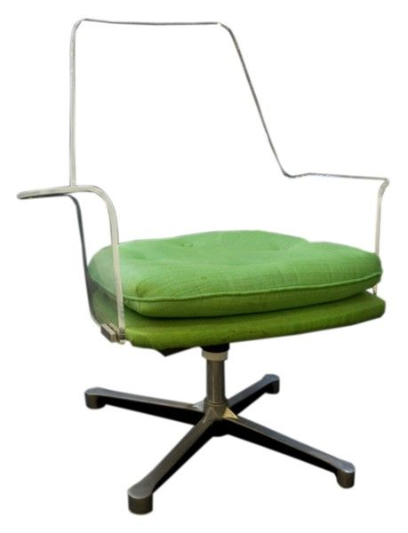Superior Lucite Swiveling Office Chair