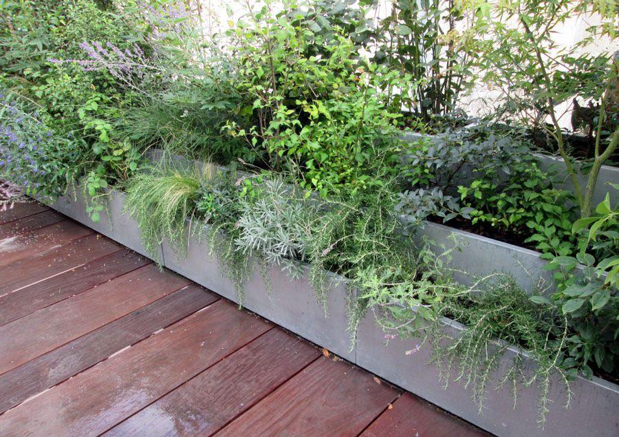 Jardinière en zinc / à usage résidentiel / sur mesure BAC ...