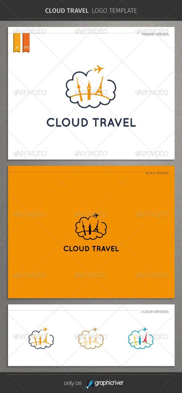 Cloud Travel Logo \u2014 Vector EPS #airport #flight \u2022 Available here - fresh blueprint travel agency