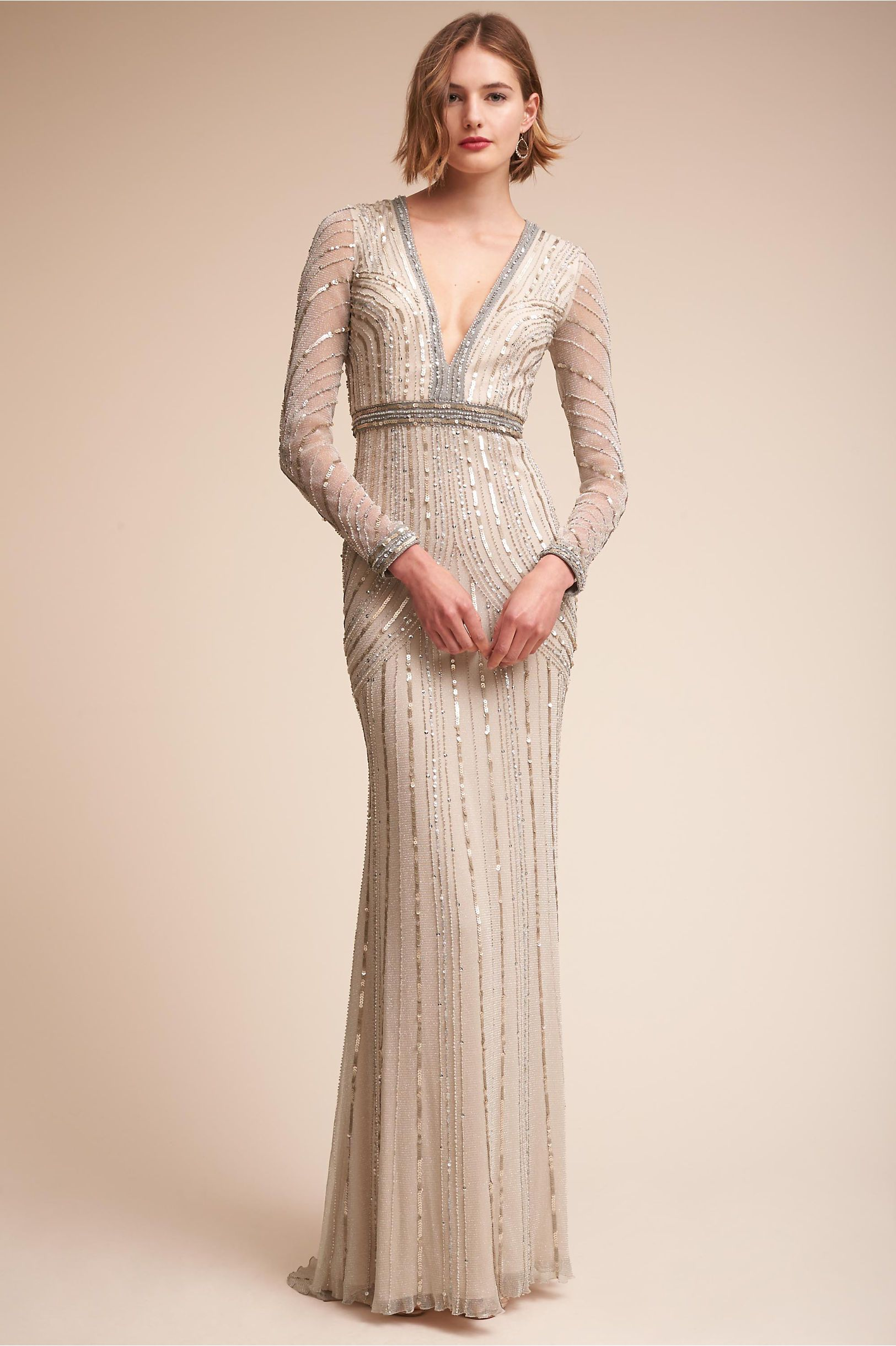 8b7815dfb9a BHLDN s Carraway Gown in Silver