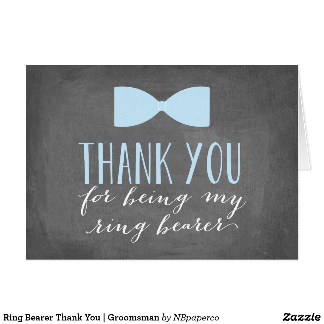 ring bearer thank you  groomsman  zazzle with