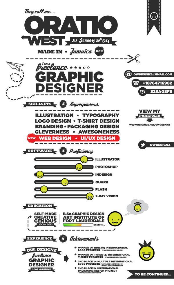 Freelance Graphic Designer Resume 14 Stunning Examples Of Creative Cvresume  Creative Cv Creative .