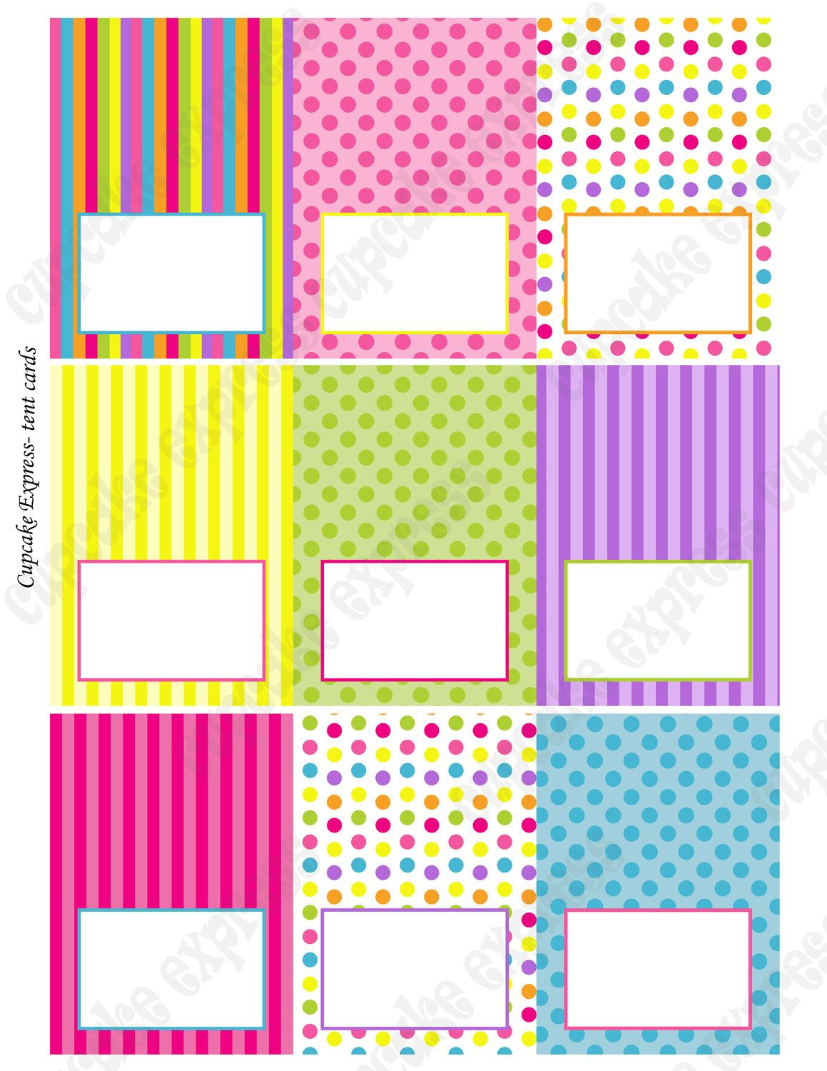 Candy Shoppe Tent cards food labels Birthday Party PRINTABLE pink ...