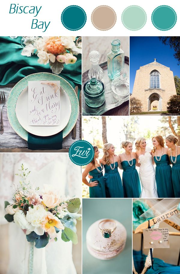 2015 trending rustic teal fall wedding color ideas inspired by pantone basic bay #fallweddingcolors