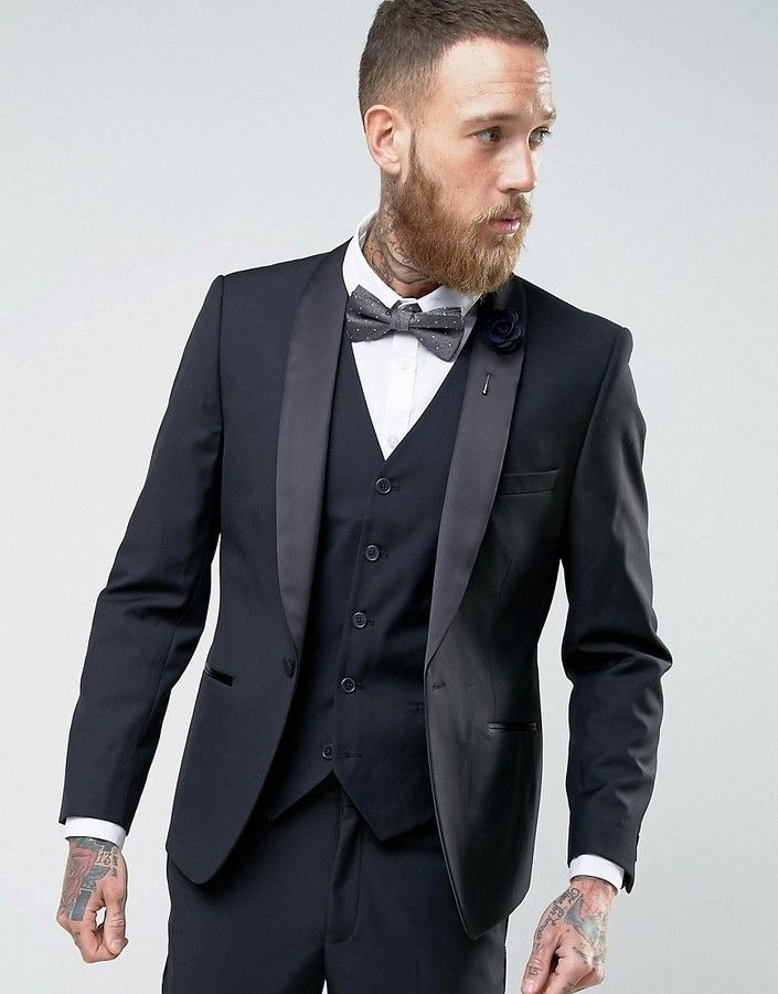 c7a5dba92bb9d French Connection Slim Fit Black Shawl Collar Tuxedo Jacket | Men ...
