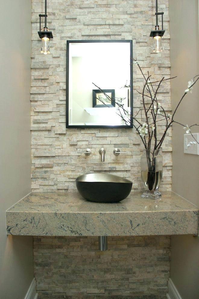 powder room vessel sink marble