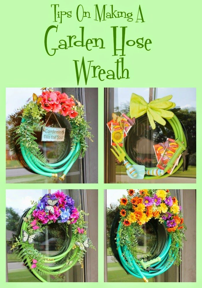 Tips For Making A Garden Hose Wreath With Images Garden Hose