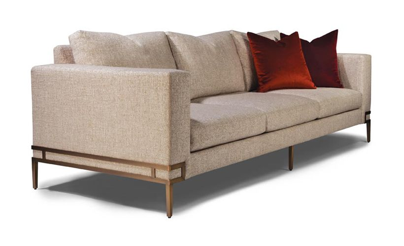 Manolo Sofa In Brushed Bronze From Thayer Coggin Sofa Sofa