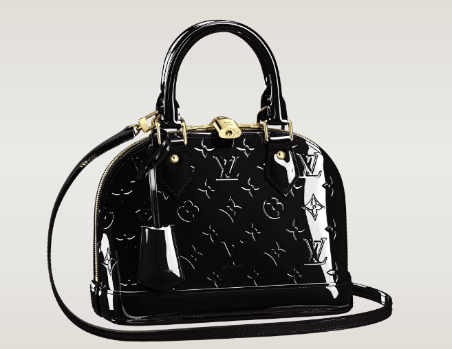 635bff7c364c ... Authentic Louis Vuitton Handbags from Factory Outlet. Louis Vuitton Alma  BB Monogram Vernis New Color - Noir Magnetique 1710 Black