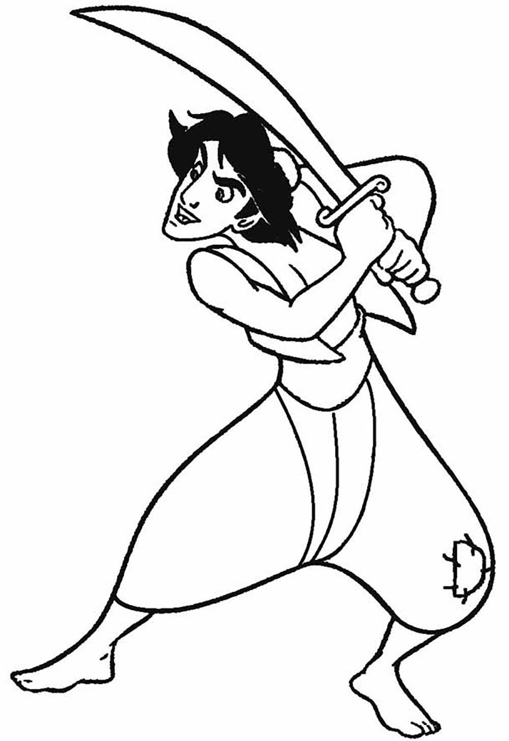 Aladdin Fighting With Swords