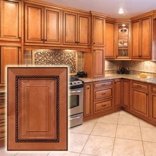 Rope With Dark Glaze Cabinets. The Intricate Trim On These