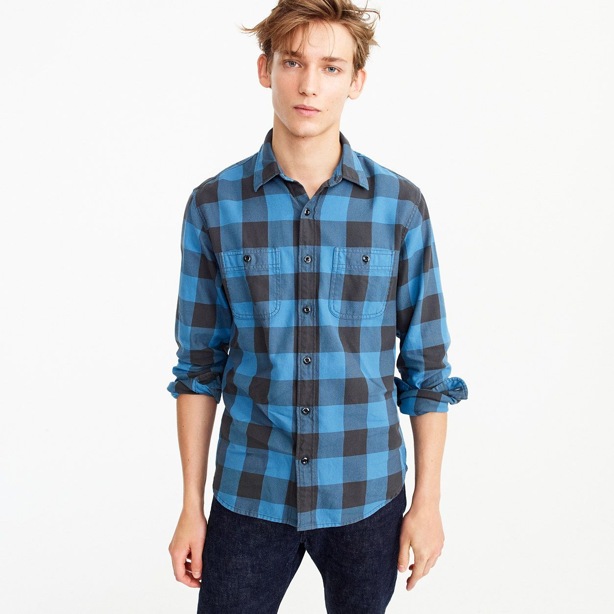 Flannel shirt plus size  Midweight flannel shirt in buffalo check  Flannel shirts Flannels